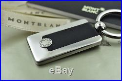 Montblanc Meisterstuck Classic Rectangular Metal Black & Silver Key Fob 114562