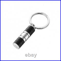 Montblanc Stainless Steel Black Precious Resin Key Ring 107600 Germany No Box