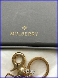 Mulberry keyring or bag charm red black pillar post box with letter, v. Rare