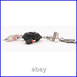 NEW $460 PRADA Black ROBOT STEVEN Saffino Leather METAL Keyring Trick BAG CHARM