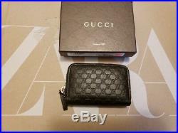 NEW Authentic Gucci sima six key case round fastener 322214 black