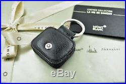 NEW + BOX Montblanc La Vie de Boheme Black Leather Key Fob Keyring 101744