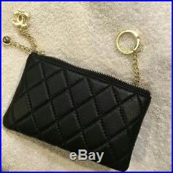 03a3547c65a426 NEW Chanel VIP Lambskin leather card holder & Keychain COIN WithBOX