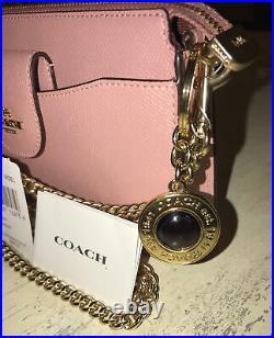 NEW Coach C0737 Poppy Crossbody withMini Wallet On A Chain &Coach Keychain $298.00
