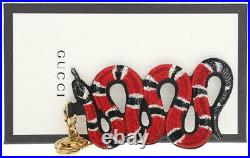 NEW GUCCI GG SUPREME OVERSIZED KINGSNAKE KEYCHAIN BAG CHARM WithBOX