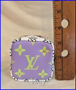NEW LOUIS VUITTON GIANT MONOGRAM MON CUBE, Coin Purse, Bag Charm RECEIPT