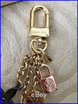 NEW LOUIS VUITTON KALEIDO V BAG CHARM Key Holder M67377 Gold Pink Black Silver