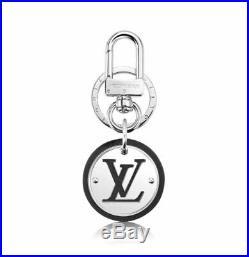 NEW Louis Vuitton LV Cut Circle Key Holder Silver Black M67362 Accessories Charm