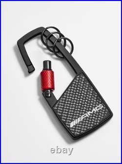 (NEW) Mercedes Benz Key ring, AMG, Carbon Fibre Carabiner B66953430