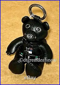 NEW Star Wars X Coach Darth Vader Bear Bag Charm Leather F88049 Black $148