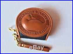 NEW Vintage Dooney & Bourke Big Duck Black & Tan Brown Coin Wristlet Purse Mint
