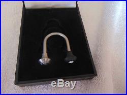 NIB MONTBLANC Key Ring C Shaped Steel & Black Key Chain Key Ring $199 TT