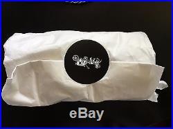 NWOT COACH 1941 STUDDED tea rose bag charm 87055 black white FOB