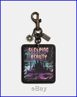 NWOT Disney X Coach 1941 Sleeping Beauty Bag Charm black