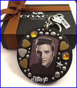 NWT AUTHENTIC COACH X ELVIS PRESLEY LTD EDITION Bag Charm/Keychain + GIFT BOX