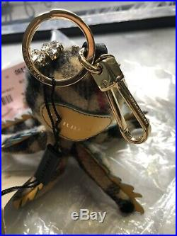 NWT Auth Burberry LS Octopus Charm Bag Key Ring $480