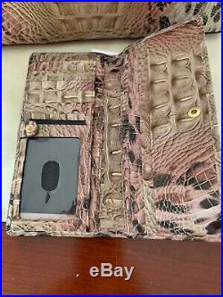 NWT Brahmin Prowl Large Duxbury With Ady Wallet and Black Tassel Key Chain Set