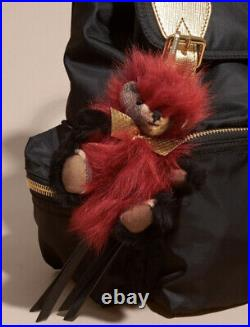 NWT Burberry Thomas Bear Pom Pom Cashmere Check Keychain Key Ring Bag Charm