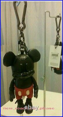 NWT COACH DISNEY x Limited Edition Mickey Mouse Leather Doll Keychain Fob Charm