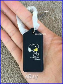 NWT COACH X Peanuts Snoopy Woodstock 1st Edition 2014 Hangtag Bag Charm Rare