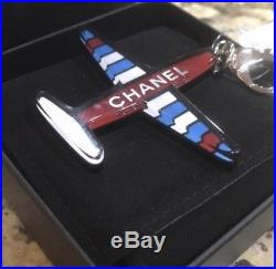 NWT Chanel Black/Red/Blue 16s Airplane Keychain
