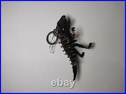 NWT Coach 24513 Small Printed Rexy Bag Charm Black Floral