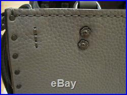 NWT Coach Rogue 25 with Rivets in Heather Grey/Black Copper (including keychain)