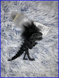 NWT Coach Small Mohawk Rexy Bag Charm Denim Black 58499