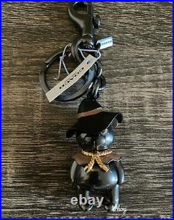 NWT Coach Wizard Of Oz Scarecrow 3D Teddy Bear Bag Charm Keychain Black F35250