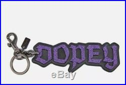 NWT Coach X Disney DOPEY Snow White A Dark Fairytale Bag Charm Keychain 32542