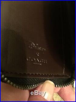 NWT Coach X Disney Minnie Mouse Black Tote Bag Wallet & Key Chain 3 Pcs Total