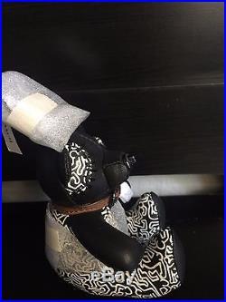 NWT Coach X Keith Haring Leather Teddy Bear Key chain Fob Bag Charm black F20137