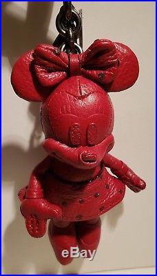 NWT Disney x Coach Red Minnie Mouse Doll Bag Charm Key Chain