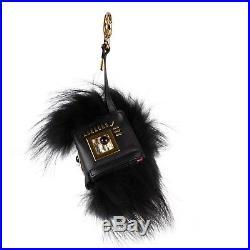 NWT FENDI Hypnoteyes Fox Fur Snakeskin And Leather Monster Cube Bag Charm $1500
