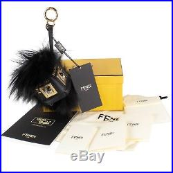 NWT FENDI Hypnoteyes Fox Fur Snakeskin And Leather Monster Cube Bag Charm $1500