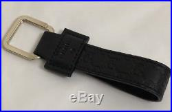 NWT GUCCI 479292 GG pattern Micro Leather Key Chain (074836) 199919 BMJ1Z 1000
