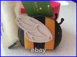 NWT Kate Spade BEE Coin Purse Bag Charm Keychain