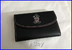 NWT Limited Edition Coach x Disney Mickey Mouse Key Pouch Black / Red