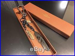 NWT Multi Coach Metal Feather Bag Key Fob Charm F63598
