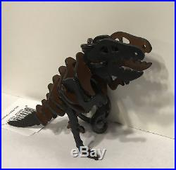 NWT'S Coach Rexy / Dinosaur Leather Bag Charm Black / Saddle