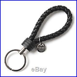 New Authentic BOTTEGA VENETA Key Ring Black 113539-v001d-1000 Women's Gift