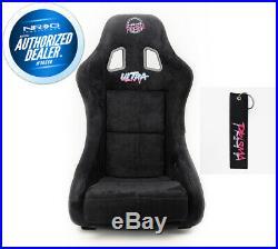 New Black Nrg Prisma Ultra Large Seat + Side Mounts + Key Chain Frp-302bk-ultra