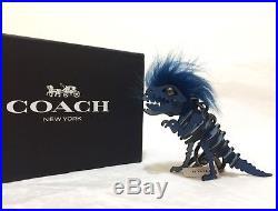 New Coach 58499 Mohawk Rexy Dinosaur Bag Charm KeyChain Denim Blk Inbox SOLD OUT