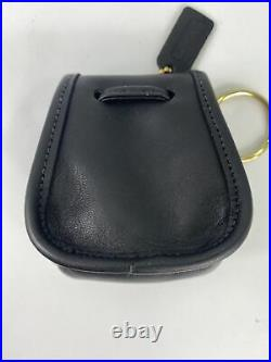 New Coach Vintage Black Leather Bag Daypack Keychain FOB Style No. 7253 J3