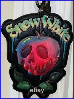 New Coach X Disney Snow White Poison Apple Leather Charm Fob Hangtag