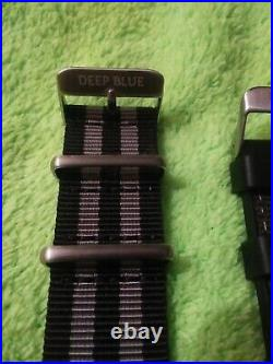 New Deep Blue Master1000 Auto with2 straps, watch case, key chain, sticker. 300m
