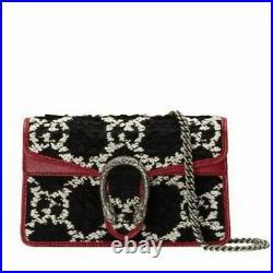 New Gucci Dionysus GG Tweed Super Mini Bag, Cartera Mini Gucci