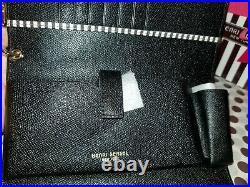 New Henri Bendel Uptown Wallet Organizer 917 Centennial & Black with Key Chain