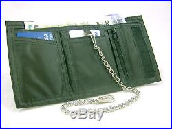 New Leather Wallet Trifold Bikers Sports Wallet Belt Key Chain Wallet