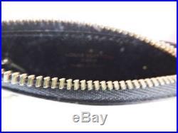 New Louis Vuitton Black Epi Key Pouch